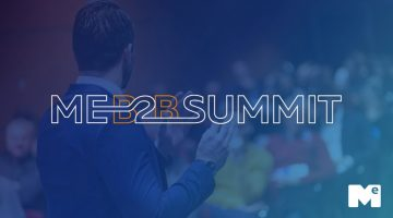 Imagem com o logo do evento ME B2B Summit