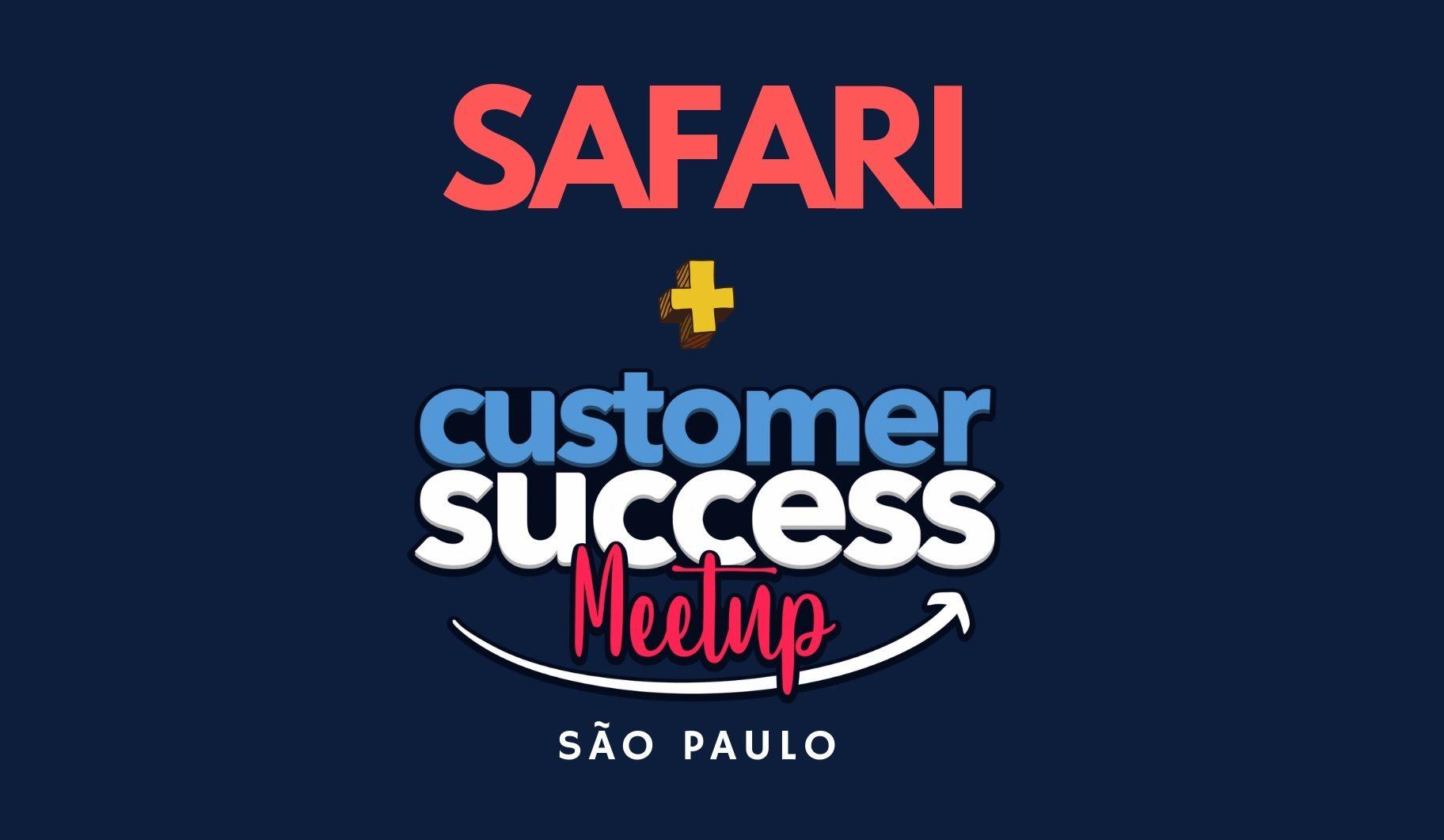 Logo Meetup Customer Success + 2º Safari benchmarking SP