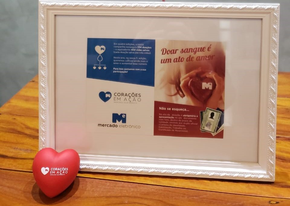 Mercado Eletrônico traz Fundação Pró-Sangue dentro da empresa